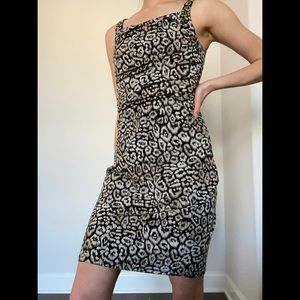 NWT Deadstock Ann Taylor Cheetah Dress, 4P